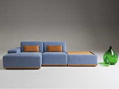 - Modular leather sofa with chaise longue KONGENS | Sofa with chaise longue - Egoitaliano