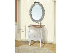 - Lacquered vanity unit with drawers with mirror KOS CM40DC - LA BUSSOLA