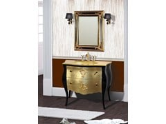 - Lacquered vanity unit with drawers with mirror KOS CM50DC - LA BUSSOLA
