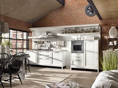 - Fitted wood kitchen KREOLA - COMPOSITION 02 - Marchi Cucine