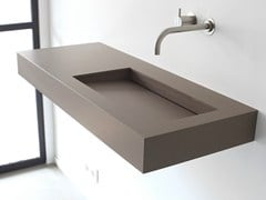 - Rectangular wall-mounted composite material washbasin KUUB | Composite material washbasin - Not Only White