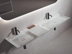 Lavabo doppio rettangolare sospeso in marmoL 18 - BOFFI