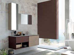 - Single wooden vanity unit LA FENICE - COMPOSITION 13 - Arcom