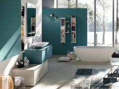 - Oak bathroom cabinet / vanity unit LA FENICE - COMPOSIZIONE 21 - Arcom