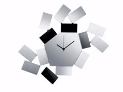 - Wall-mounted stainless steel clock LA STANZA DELLO SCIROCCO | Stainless steel clock - ALESSI