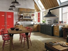 - Fitted wood kitchen LAB 40 - COMPOSITION 02 - Marchi Cucine