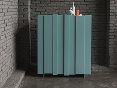 - Lacquered highboard with doors STRIPE | Lacquered highboard - Dall'Agnese