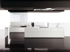 - Lacquered fitted kitchen without handles GLASS | Lacquered kitchen - Zampieri Cucine