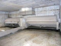 Sistema di lavaggio con vasche basculanti di fondoLAF - BETONCABLO