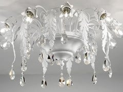 - Direct light painted metal ceiling lamp with crystals ACANTIA | Ceiling lamp - Masiero