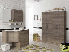 - Laundry room cabinet with doors with sink LAUNDRY 11 - LEGNOBAGNO