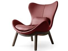 - High-back leather armchair LAZY | Leather armchair - Calligaris