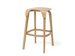 - High wooden stool LEAF | High stool - TON