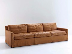- Upholstered 3 seater leather sofa COUSY | Leather sofa - arflex