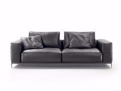 - 2 seater leather sofa ETTORE | Leather sofa - FLEXFORM