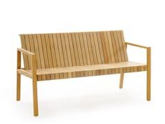 - Teak garden bench with armrests LIBERTY | Garden bench with armrests - solpuri