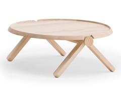 Tavolino da caffè rotondo in frassinoLILLIPUT | Tavolino da caffè - BILLIANI