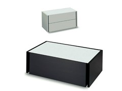 - Lacquered wooden bedside table with drawers LINE | Bedside table - Fimar