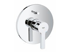 - Wall-mounted single handle bathtub/shower mixer with plate LINEARE | 1 hole bathtub mixer - Grohe