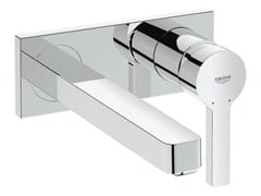 - 2 hole single handle washbasin mixer with plate LINEARE SIZE M | Wall-mounted washbasin mixer - Grohe