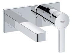 - Miscelatore per lavabo a 2 fori monocomando con piastra LINEARE SIZE S | Miscelatore per lavabo a muro - Grohe