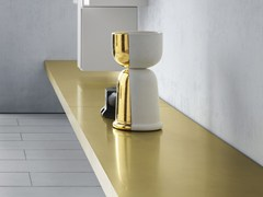 - Brass wall shelf LINK 1 | Brass wall shelf - MDF Italia