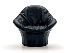 - Upholstered tanned leather armchair LIPS | Tanned leather armchair - arflex