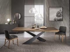 Tavolo da pranzo rettangolare in legno LIVING - GRAFITE & ROVERE ...