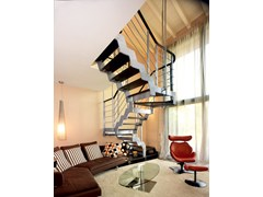 - U-shaped self supporting beech Open staircase LOFT | U-shaped Open staircase - RINTAL