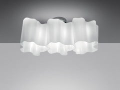 - Halogen blown glass ceiling lamp LOGICO 3 | Ceiling lamp - Artemide