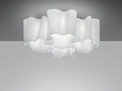 - Halogen blown glass ceiling lamp LOGICO 4X90° | Ceiling lamp - Artemide
