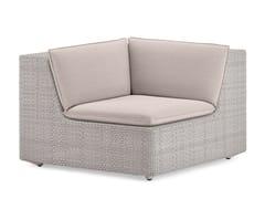 - Modular corner garden armchair LOU | Corner armchair - Dedon