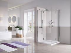 Box doccia angolare con porta a battenteLOUVRE A - NOVELLINI