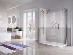 Box doccia angolare con porta a battenteLOUVRE G+F - NOVELLINI