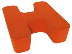 - Fabric pouf LOVE LETTERS H - Segis