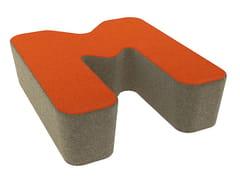 - Fabric pouf LOVE LETTERS M - Segis
