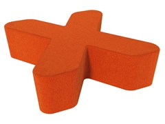 - Fabric pouf LOVE LETTERS X - Segis