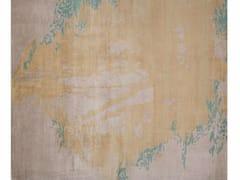 - Handmade rectangular rug LUGANO LIGHT BLUE - EDITION BOUGAINVILLE