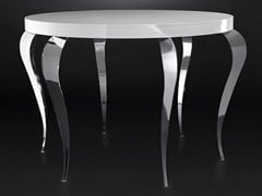 - Lacquered round steel living room table LUIGI | High table - VGnewtrend