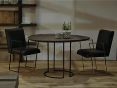 Tavolo da pranzo rotondo in rovereLUNE - CABUY D.