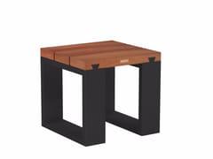 - Low sled base mahogany garden stool VIGOR | Mahogany stool - ROYAL BOTANIA