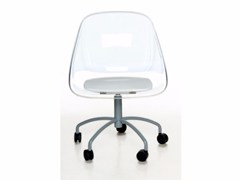 - Chair with 5-spoke base with casters MAIL | Chair with casters - Paolo Castelli