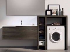 - Sectional laundry room cabinet with mirror MAKE WASH 03 - LASA IDEA