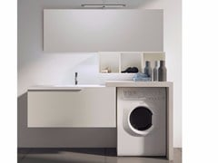 - Sectional laundry room cabinet with mirror MAKE WASH 04 - LASA IDEA