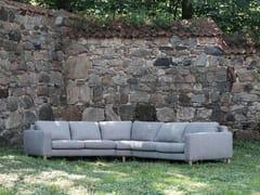 - 5 seater corner upholstered fabric sofa MALIN | Corner sofa - SITS