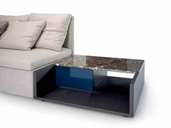 - Low square coffee table with storage space MANGOLD | Coffee table - arflex