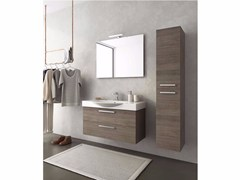 - Wall-mounted wooden vanity unit with drawers MANHATTAN M13 - LEGNOBAGNO