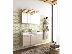 - Wall-mounted wooden vanity unit with doors MANHATTAN M14 - LEGNOBAGNO