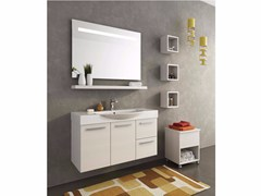 - Wall-mounted wooden vanity unit MANHATTAN M15 - LEGNOBAGNO