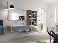- Laminate bathroom cabinet / vanity unit MAQ - Composition 1 - INDA®